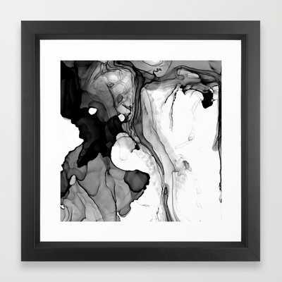 "FRAMED ART PRINT/ VECTOR BLACK MINI (12"" X 12"") - Society6"