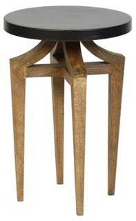 Geoffrey Side Table, Antiqued Bronze - One Kings Lane
