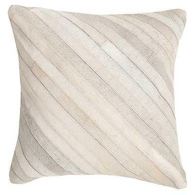 """Whitchurch Feather Throw Pillow - White - 22"""" Square - AllModern"""