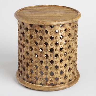 Tribal Carved Wood Accent Table - World Market/Cost Plus