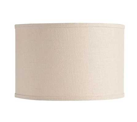 Straight Sided Burlap Drum Lamp Shade - Bleached, Large - Pottery Barn