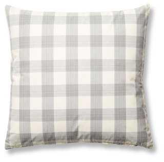 Buffalo 20x20 Pillow, Gray- Down/feather insert - One Kings Lane