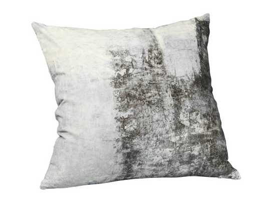 "Abstract Velvet Cushion W/ Feather Insert-25"" - Domino"