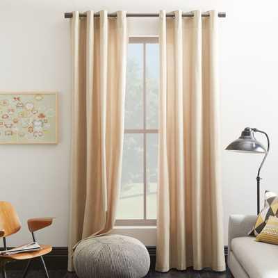 """Cotton Canvas Grommet Curtain - 108"""" - West Elm"""