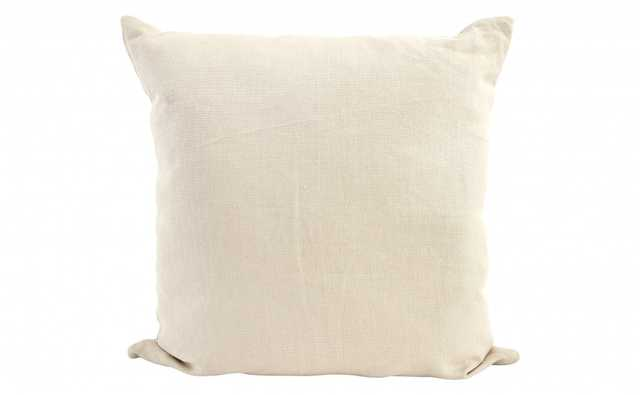 "LINEN OYSTER PILLOW - 22"" - OYSTER - down and feather insert	 - Jayson Home"