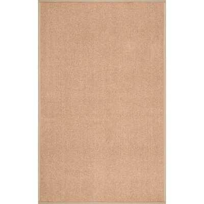 Faux Sisal Bordered Indoor/ Outdoor Rug (8' x 10') - Overstock