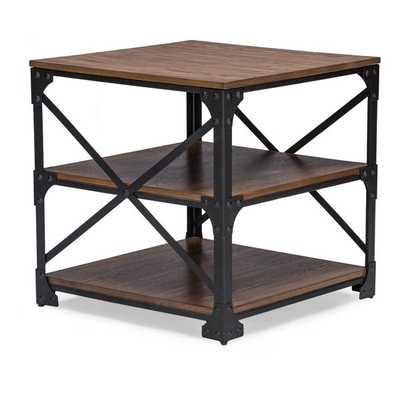 Baxton Studio Greyson Vintage Industrial Antique Bronze Occasional End Table/ Side Table - Overstock