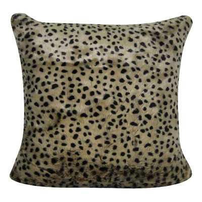 Leopard Cheetah Decorative Throw Pillowby Loom and Mill - Wayfair
