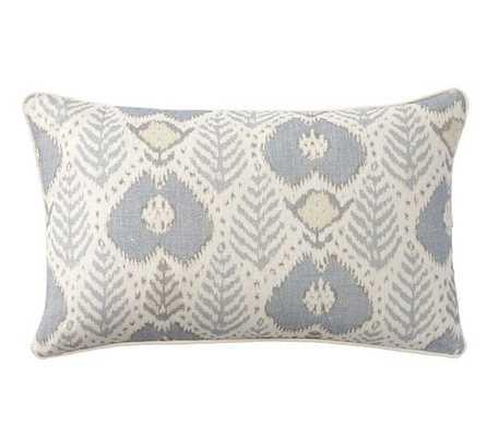 "Fern Ikat Print 16""x 26"" Lumbar Pillow Cover, no insert - Pottery Barn"