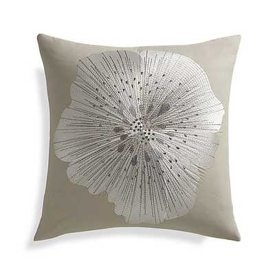 Bloom Frost 20' Light khaki Pillow with Feather-Down Insert - Crate and Barrel