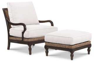 St. Baart Chair & Ottoman - One Kings Lane