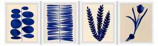 "As Collective, Indigo Arrangement -  16"" x 13"" - Framed - One Kings Lane"
