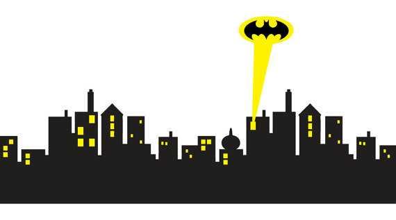 Gotham City Skyline Batman Decal Removable WALL STICKER Home Decor Art - Etsy