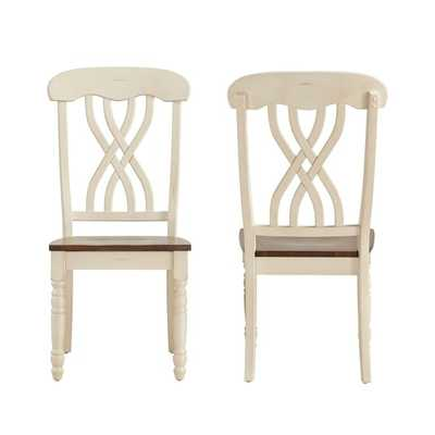 TRIBECCA HOME Mackenzie Country Style Two-tone Side Chairs (Set of 2) - Overstock