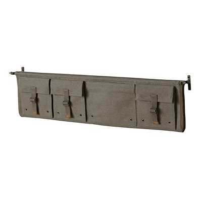 Large Grey Surplus Wall Shelf - Land of Nod