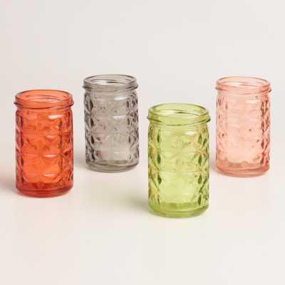 Aria Diamond Tealight Holders Set of 4 - World Market/Cost Plus