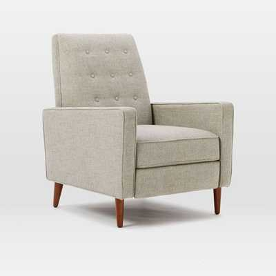 Rhys Mid-Century Recliner - Gravel (Twill) - West Elm