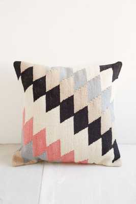 Plum & Bow Andanda Kilim Pillow- Neutral Multi- Poly Fill Insert - Urban Outfitters