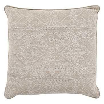 "Lourdes Pillow 22"", Ivory - Feather/Down Insert - Z Gallerie"
