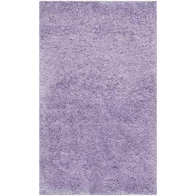 Lilac Shag Area Rug - Wayfair