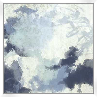 """Water Color Abstract with Floater Framed on Wrapped Canvas -  30.5"""" H x 30.5"""" W - Wayfair"""