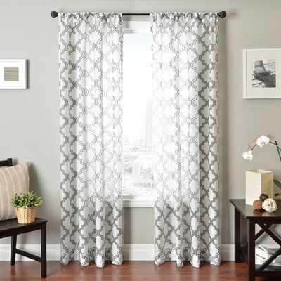 Penby Burnout Rod Pocket Curtain Panel - Overstock