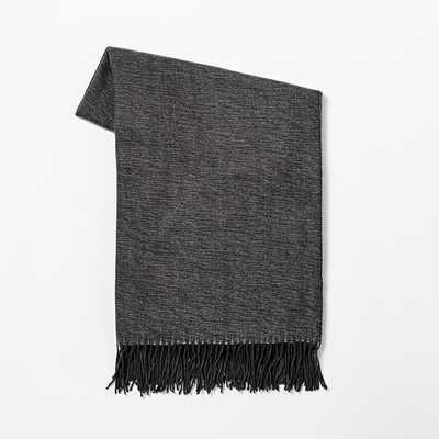 Warmest Throw - Yarn Dyed - Slate - West Elm
