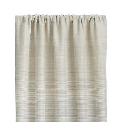 "Wren 50""x108"" Grey Curtain Panel - Crate and Barrel"