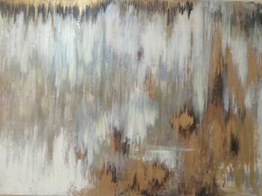 "Grey and Gold Abstract Painting ""Steady in Silver and Gold"" - Etsy"