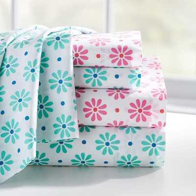 "Sweet Daisy Pillowcases, Set of 2 - 20 x 30"" - insert sold separately - Pottery Barn Teen"