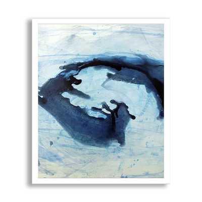 """SPLASH I - 24"""" H x 20"""" W - Framed-(White) - Dwell Studio"""