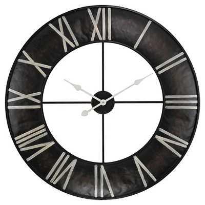 Lazy Susan 31 in. Dark Bronze Wall Clock - Target