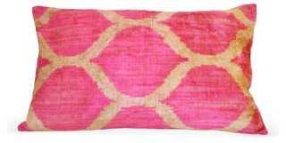 Looped 16x24 Silk-Blend Pillow, Pink - One Kings Lane