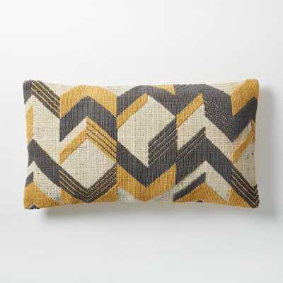 "Broken Arrow Pillow Cover - Horseradish - 14""w x 26""l - Insert sold separately - West Elm"