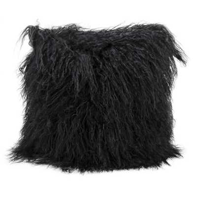 Mina Victory Genuine Fur Throw Pillow - Overstock