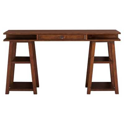 Open Core Desk With Trestle Base - Tuscan - Pottery Barn Teen