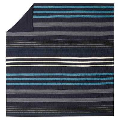 Laid Back Stripes Full/Queen Quilt - Insert sold separately - Pottery Barn Teen