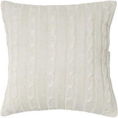 """Cable Knit Decorative Pillow 18"""" x 18"""" with insert - Home Decorators"""