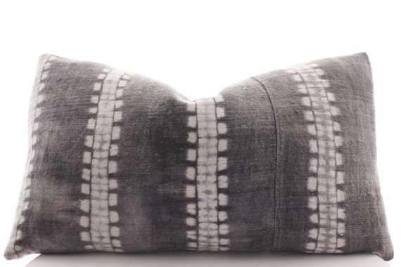 Gray Batik Pillow Cover, Vintage, Textile, - Etsy