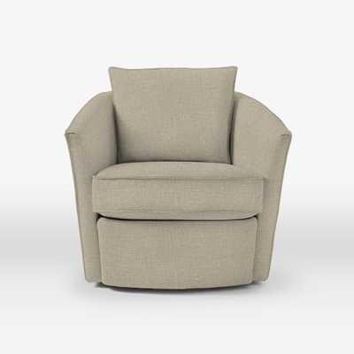 Duffield Swivel Chair - Linen Weave, Natural - West Elm