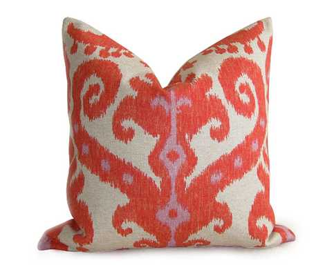 "kat Designer Linen Pillow Cover - Orange-16""x16""- Insert Sold Separately - Etsy"