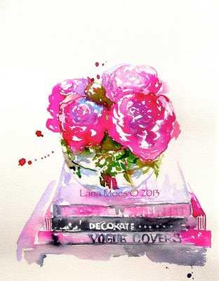 "Pink Peonies Watercolor - 8""x10"" - Unframed - Etsy"