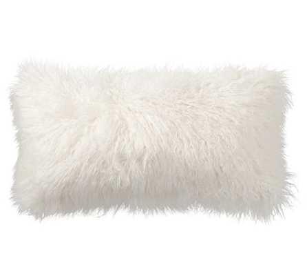 Mongolian Faux Fur Lumbar Pillow Cover - Pottery Barn