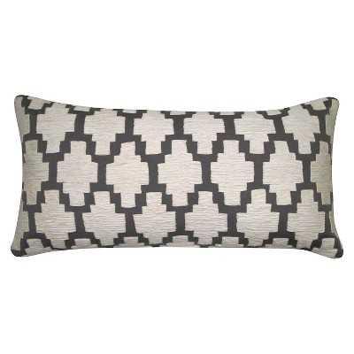 "Thresholdâ""¢ Applique Lumbar Pillow 24""x12"" with polyester fill - Target"