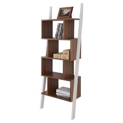 "Mateo 71"" Leaning Bookcase - Wayfair"