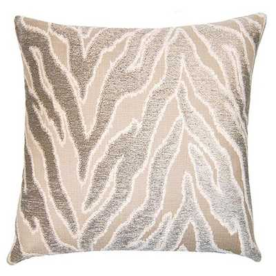 """Pewter Savage Throw Pillow - 20""""SQ - Feather down insert included - Zinc Door"""