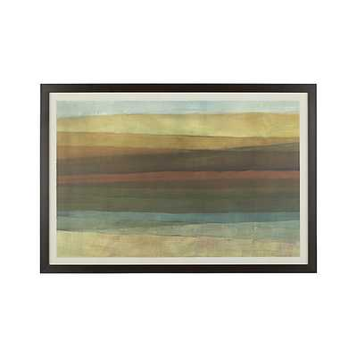 "Chroma Print - 35""Wx51""H - Espresso Frame - Crate and Barrel"