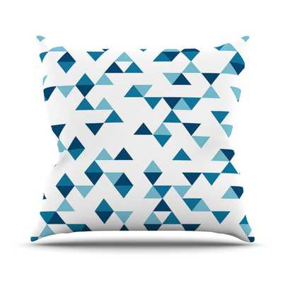 "Triangles by Project M Throw Pillow-Blue-16""x16""-Insert - AllModern"
