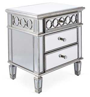 Geo 2-Drawer Nightstand - One Kings Lane