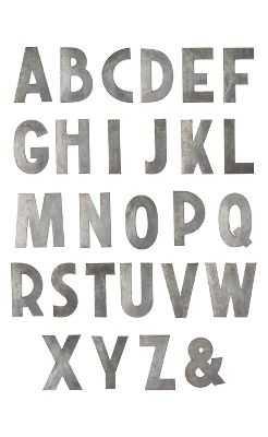 "Zinc Letters-""G"" - Anthropologie"
